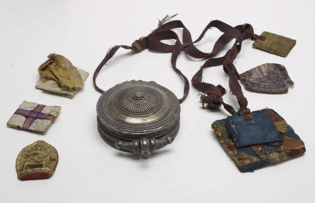 An image of Circular amulet box