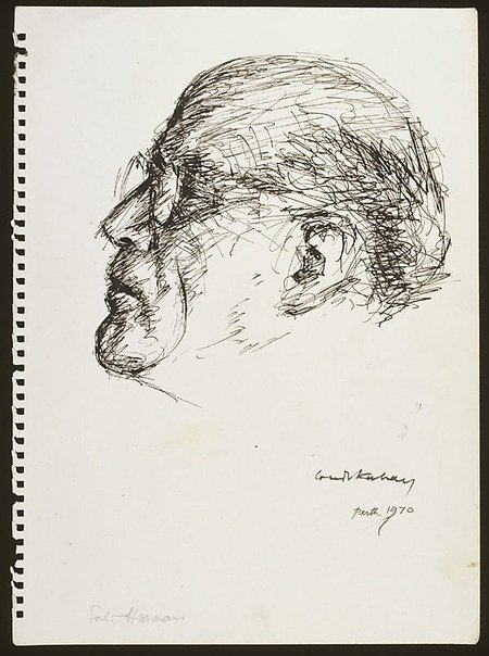 An image of Sali Herman (head) by Louis Kahan