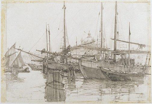 An image of The moorings, Venice by John Goodchild