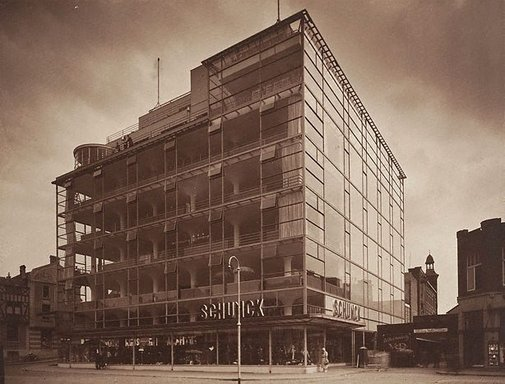 An image of Glaspaleis (Schunck department store, Heerlen, The Netherlands) by Werner Mantz