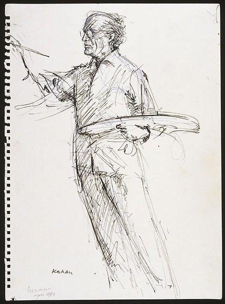 An image of Sali Herman (full figure, painting) by Louis Kahan