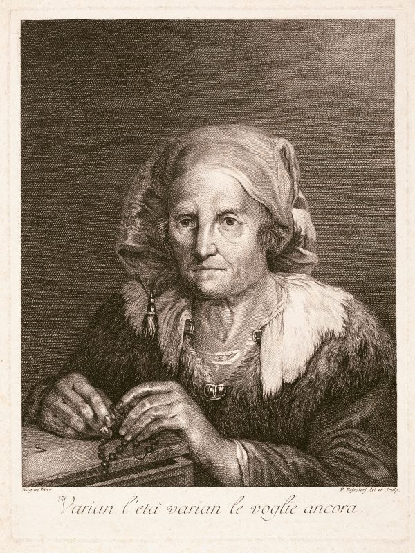 An image of An old woman with a rosary