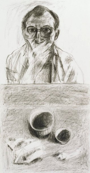 An image of Self portrait and still life by Kevin Lincoln