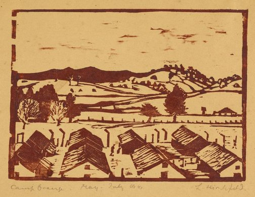 An image of Camp, Orange by Ludwig Hirschfeld-Mack