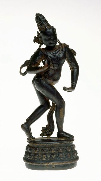 An image of Shani, personification of the planet Saturn by