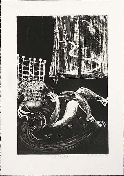An image of Lovers and window by Arthur Boyd