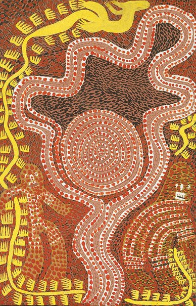 An image of Children's goanna dreaming by Timmy Payungka Tjapangati