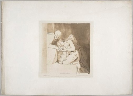 An image of Feed the Hungry by Frederick Christian Lewis, after John Flaxman