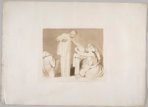 An image of Clothe the Naked by Frederick Christian Lewis, after John Flaxman