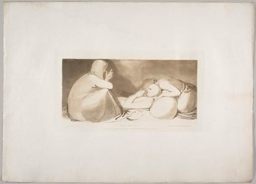 An image of Visit the Sick by Frederick Christian Lewis, after John Flaxman