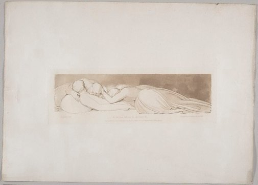 An image of Go to the House of Mourning by Frederick Christian Lewis, after John Flaxman