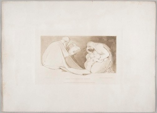 An image of Comfort the Fatherless and Widow by Frederick Christian Lewis, after John Flaxman