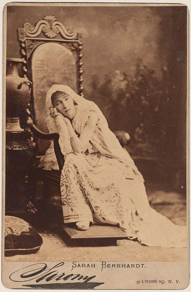 An image of Sarah Bernhardt, New York