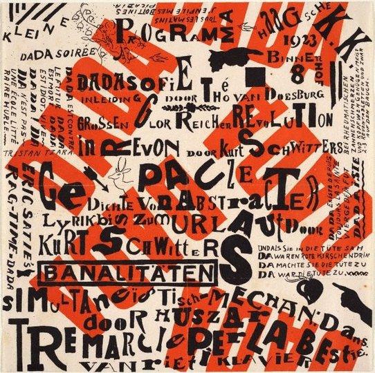 AGNSW collection Kurt Schwitters, Theo van Doesburg Kleine DADA soirée (1923) 268.1984