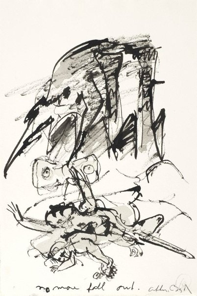 An image of (Illustration for 'Jonah' p.85) by Arthur Boyd