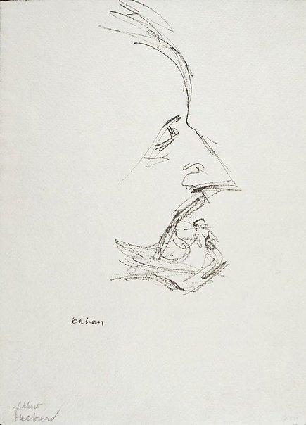 An image of Albert Tucker by Louis Kahan