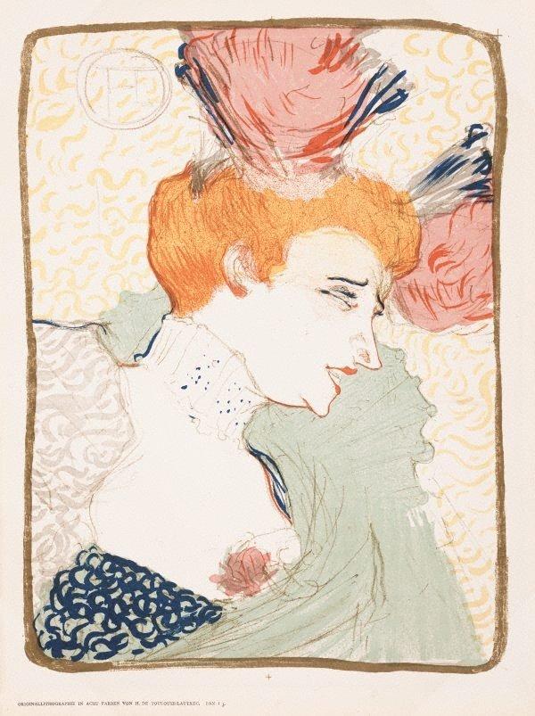 Mademoiselle Marcelle Lender en buste, (1895) by Henri de Toulouse-Lautrec