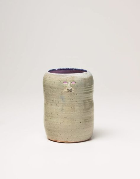 An image of Celadon vase by Francis Upritchard