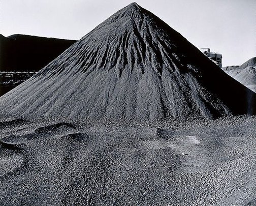 An image of Port Waratah graded coal pile by Grant Mudford