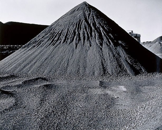 An image of Port Waratah graded coal pile