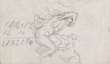 Alternate image of recto: Imaginary scene, verso: Study of a woman and faun by Paul Cézanne