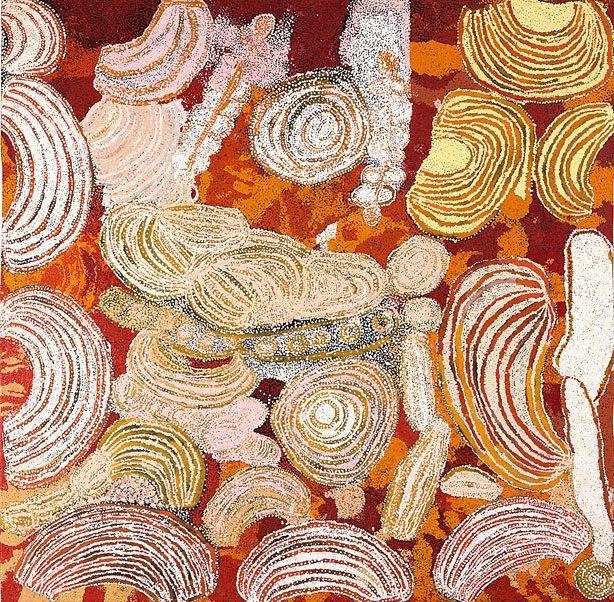 Minyma Tjuta Tjukurpa, (2007) by Wingu Tingima