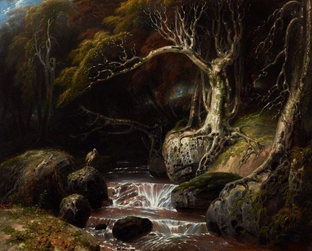 Landscape – solitude, (1811) by Richard Westall