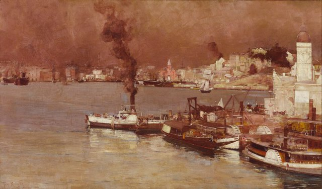 An autumn morning, Milson's Point, Sydney, (1888) by Tom Roberts
