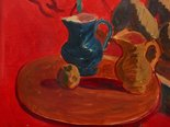 Alternate image of Jugs against vermillion background by Sir Matthew Smith
