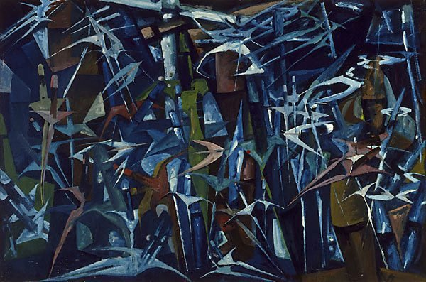Movement into space I, (circa 1945-circa 1955) by Roger Kemp