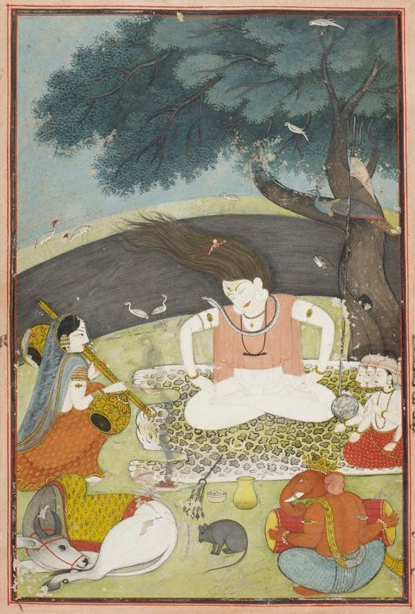 An image of Shiva and his family