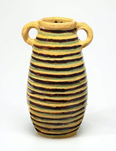 An image of Vase with striped design by Anne Dangar
