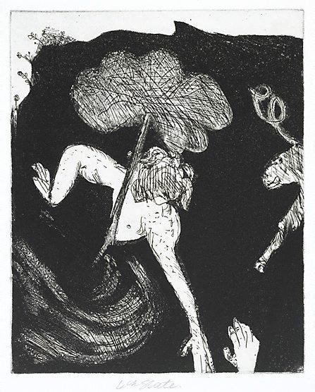 An image of Orpheus and Eurydice by Arthur Boyd