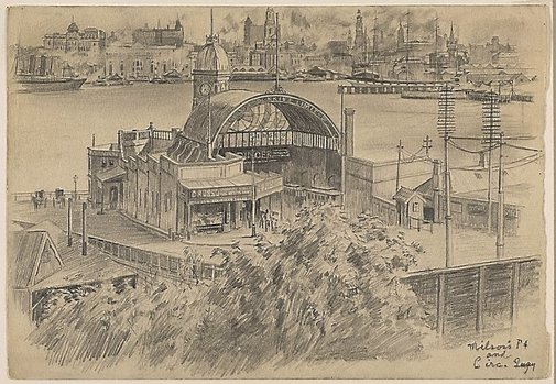 An image of Milsons Point and Circular Quay by Martin Lewis