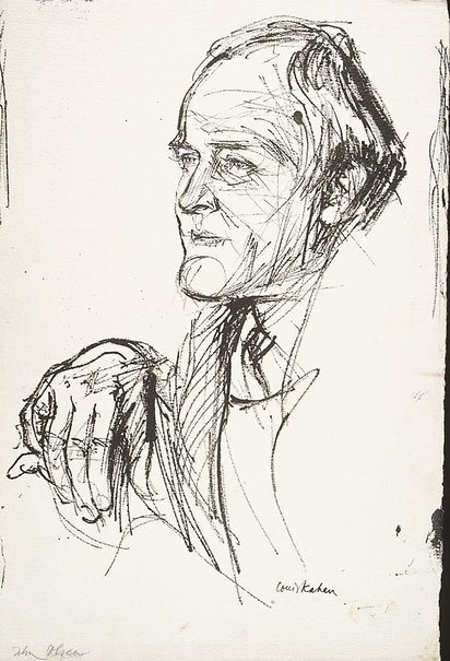 An image of John Olsen by Louis Kahan