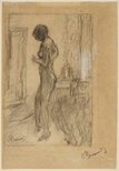 Alternate image of Nude in front of a mirror by Pierre Bonnard