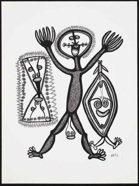 An image of Man na tupela kain palang by Akis