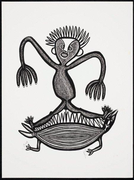 An image of Pukpuk i gat tupela maus bilong en by Akis