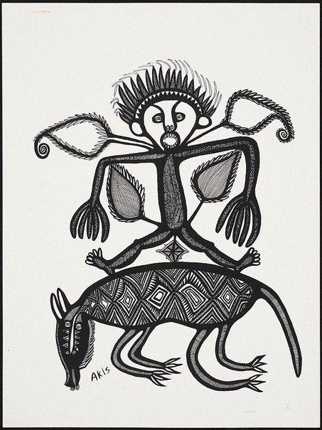 An image of Man i mekim amamas antap long magani by Akis