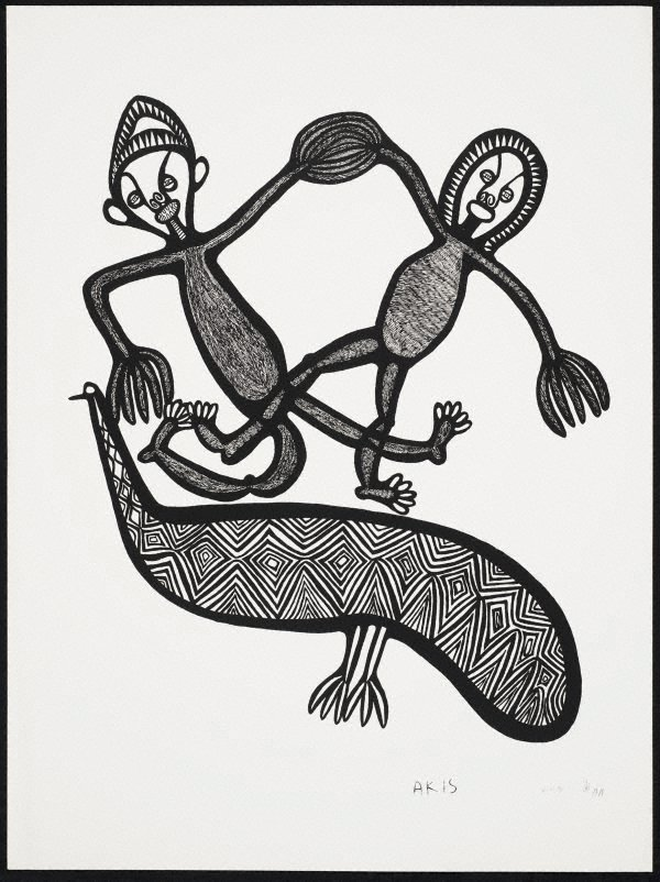 An image of Tupela man holim han na pilai antap long wanpela muruk