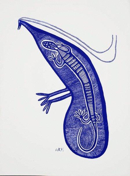 An image of Palai i stap long bel bilong muruk by Akis