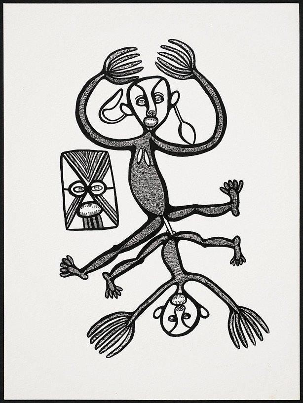 An image of Liklik man i puspusim bikpela meri