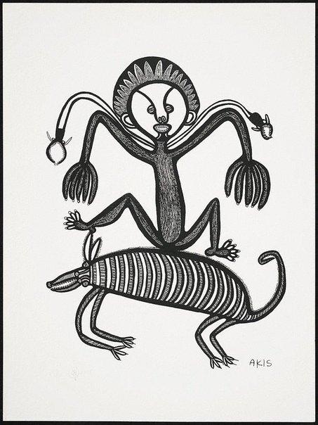 An image of Man, pik na tupela sinek by Akis
