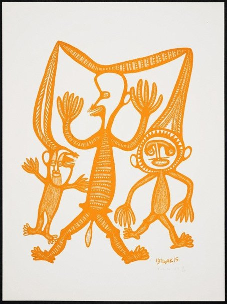 An image of Man i poret long tupela masalai by Akis