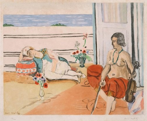 An image of Odalisque on the terrace by Jacques Villon, after Henri Matisse