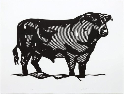 An image of Bull I by Roy Lichtenstein