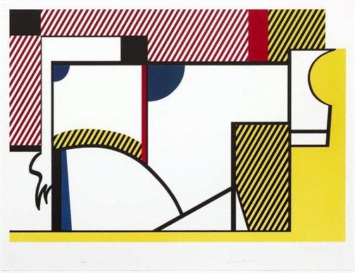 An image of Bull IV by Roy Lichtenstein