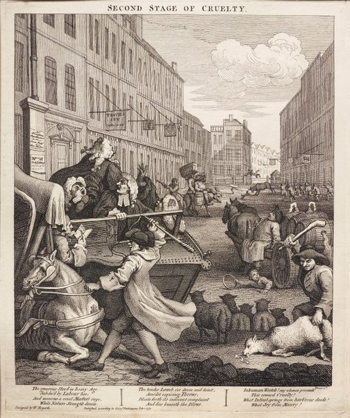 An image of The second stage of cruelty by William Hogarth