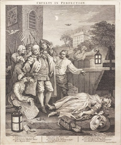 An image of Cruelty in perfection by William Hogarth