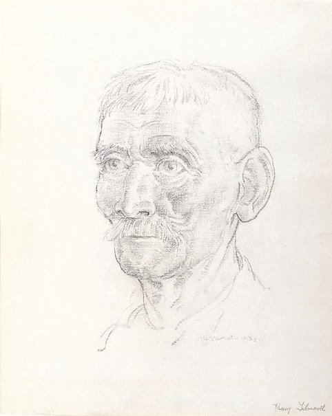An image of The mail man (Harry Tilmouth) by Arthur Murch